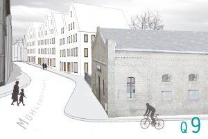 Wettbewerb Wohnquartier an der Stadtmauer/ Knieperteich – Quartier 9 in Stralsund